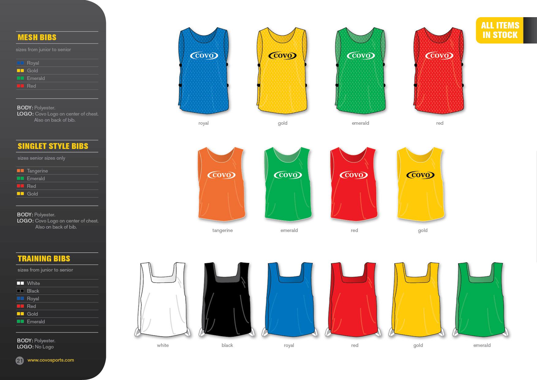 covo sports catalogue mesh singlet training bibs. Black Bedroom Furniture Sets. Home Design Ideas